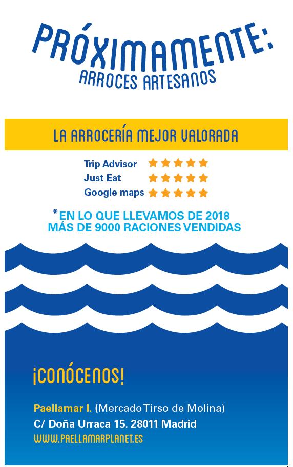 MUY PRONTO NUEVO ESPACIO DE PAELLAMAR EN MERCADO SAN ENRIQUE. TETUÁN, MADRID