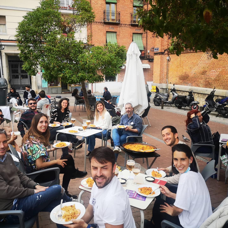 VERANO EN MADRID.EL OLOR DE LA PAELLA